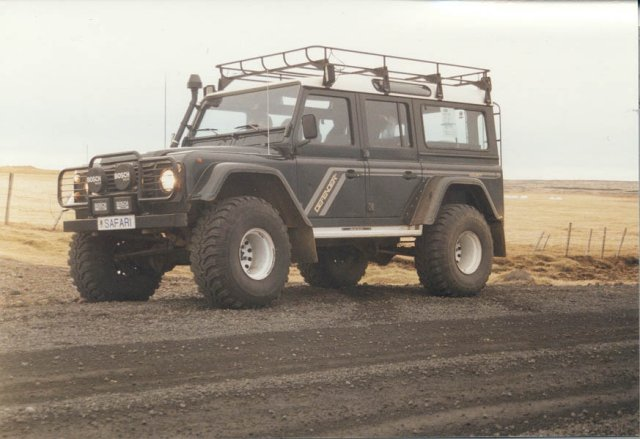 Land Rover Defender 130, equipped with 38
